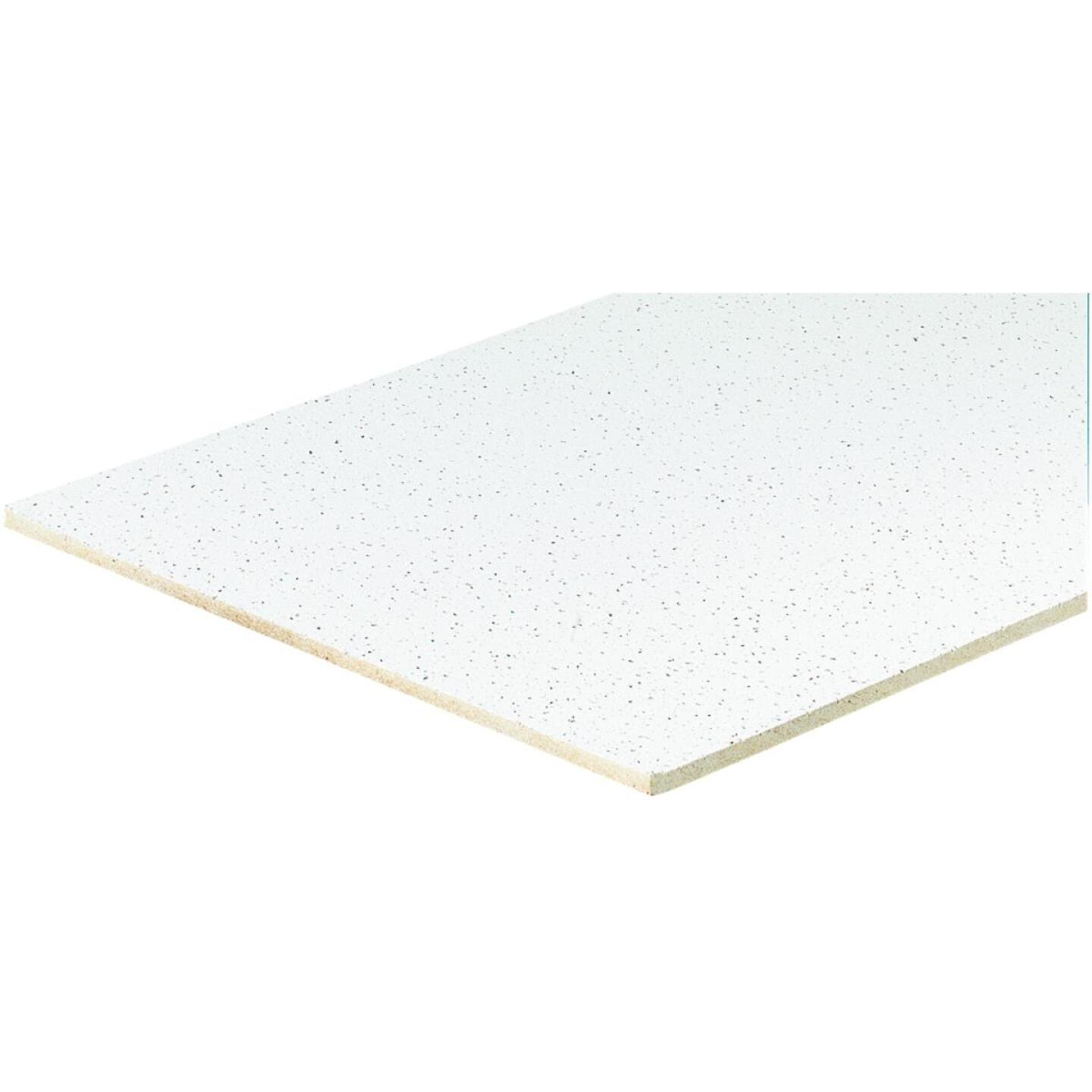 Radar Fissured 2 Ft. x 4 Ft. White Mineral Fiber Square Edge Suspended Ceiling Tile (16-Count) Image 2