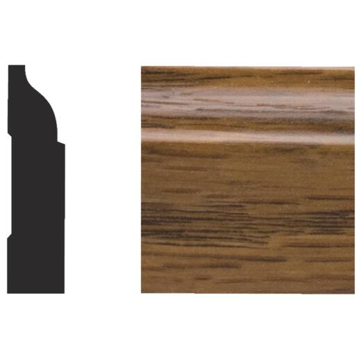 Royal 3/8 In. W. x 1-1/4 In. H. x 7 Ft. L. Highland Oak PVC Interior Colonial Stop Molding