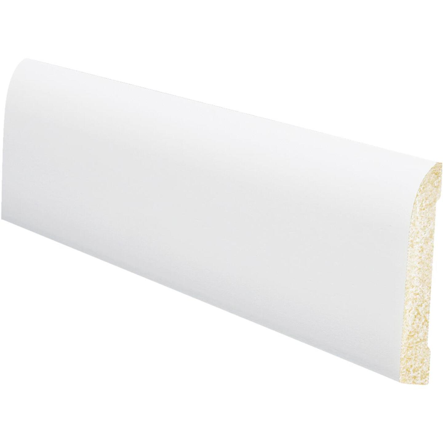Inteplast Building Products 7/16 In. W. x 3-3/16 In. H. x 8 Ft. L. Crystal White Polystyrene Ranch Base Molding Image 1