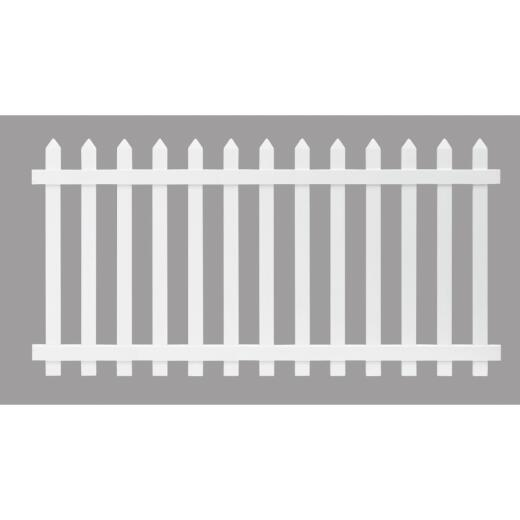 Outdoor Essentials 4 Ft. H. x 8 Ft. L. Spaced White Vinyl Picket Fence