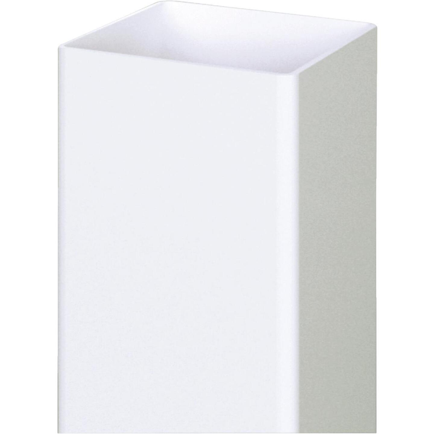 Outdoor Essentials 5 In. x 5 In. x 96 In. White Blank Vinyl Post Image 2