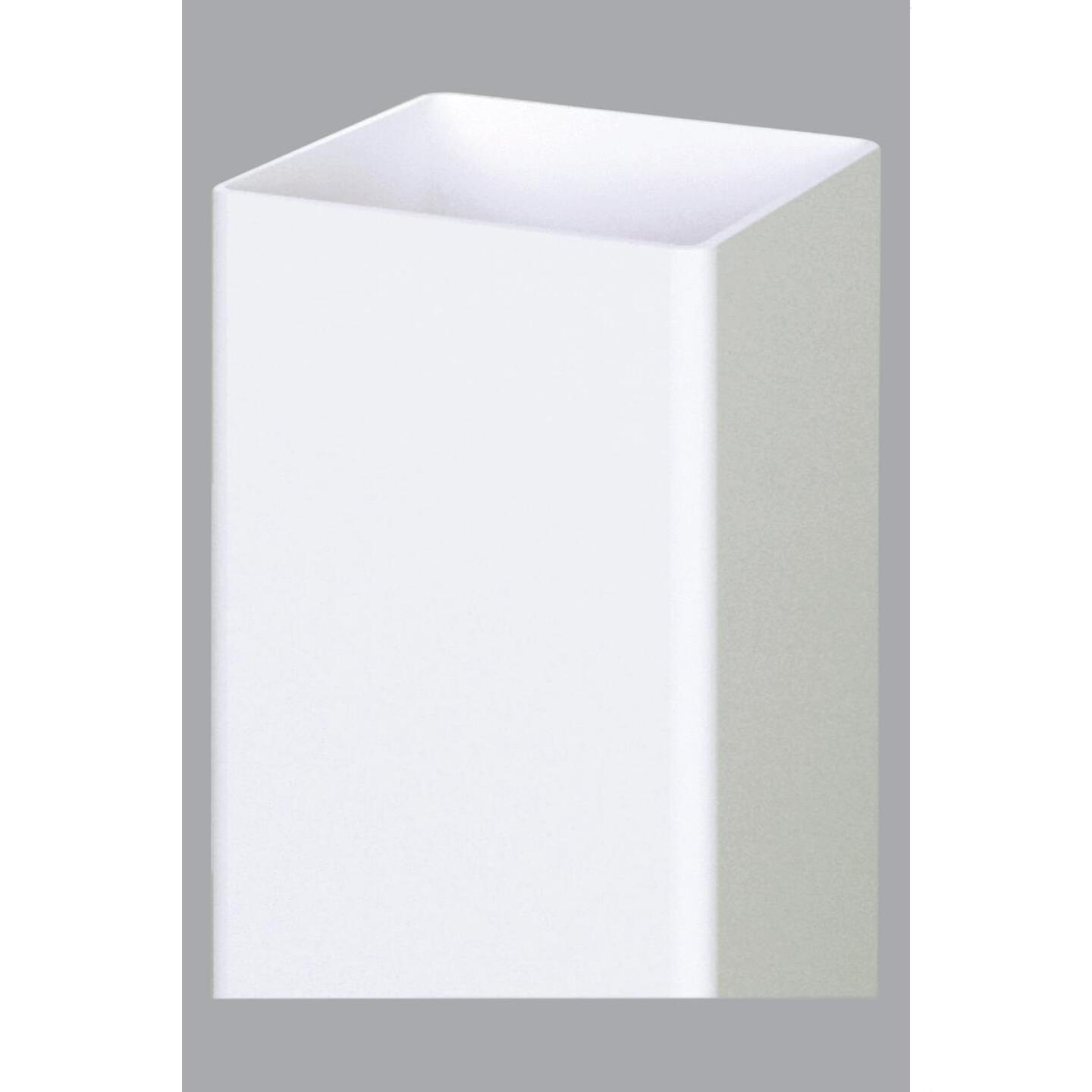 Outdoor Essentials 5 In. x 5 In. x 96 In. White Blank Vinyl Post Image 1