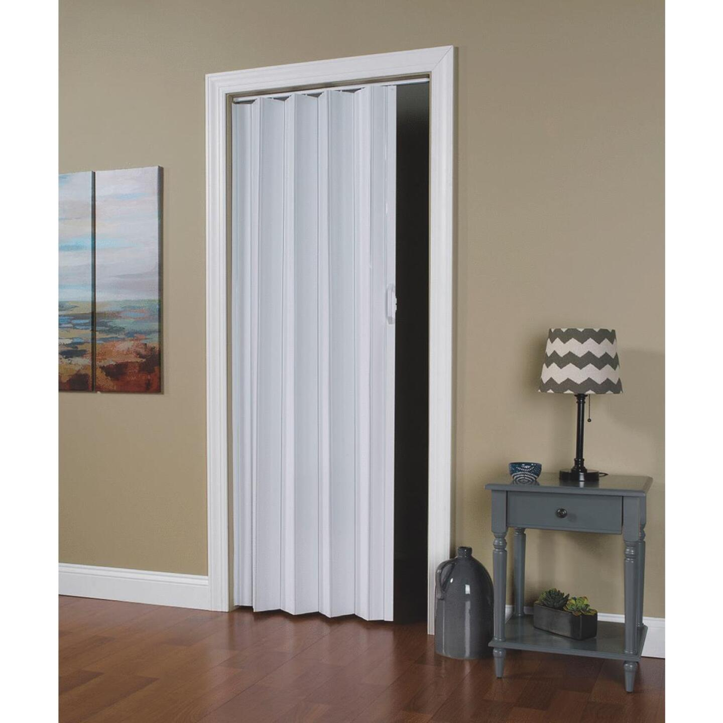 Spectrum Via 24 In. to 36 In. W. x 80 In. H. White Accordion Folding Door Image 1