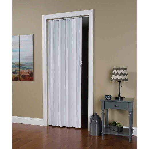 Spectrum Via 24 In. to 36 In. W. x 80 In. H. White Accordion Folding Door