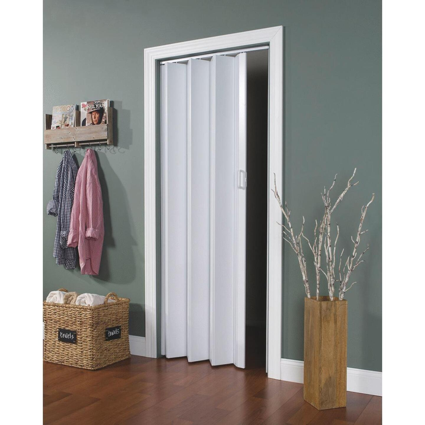 Spectrum Encore 24 In. to 36 In. W. x 80 In. H. White Accordion Folding Door Image 1