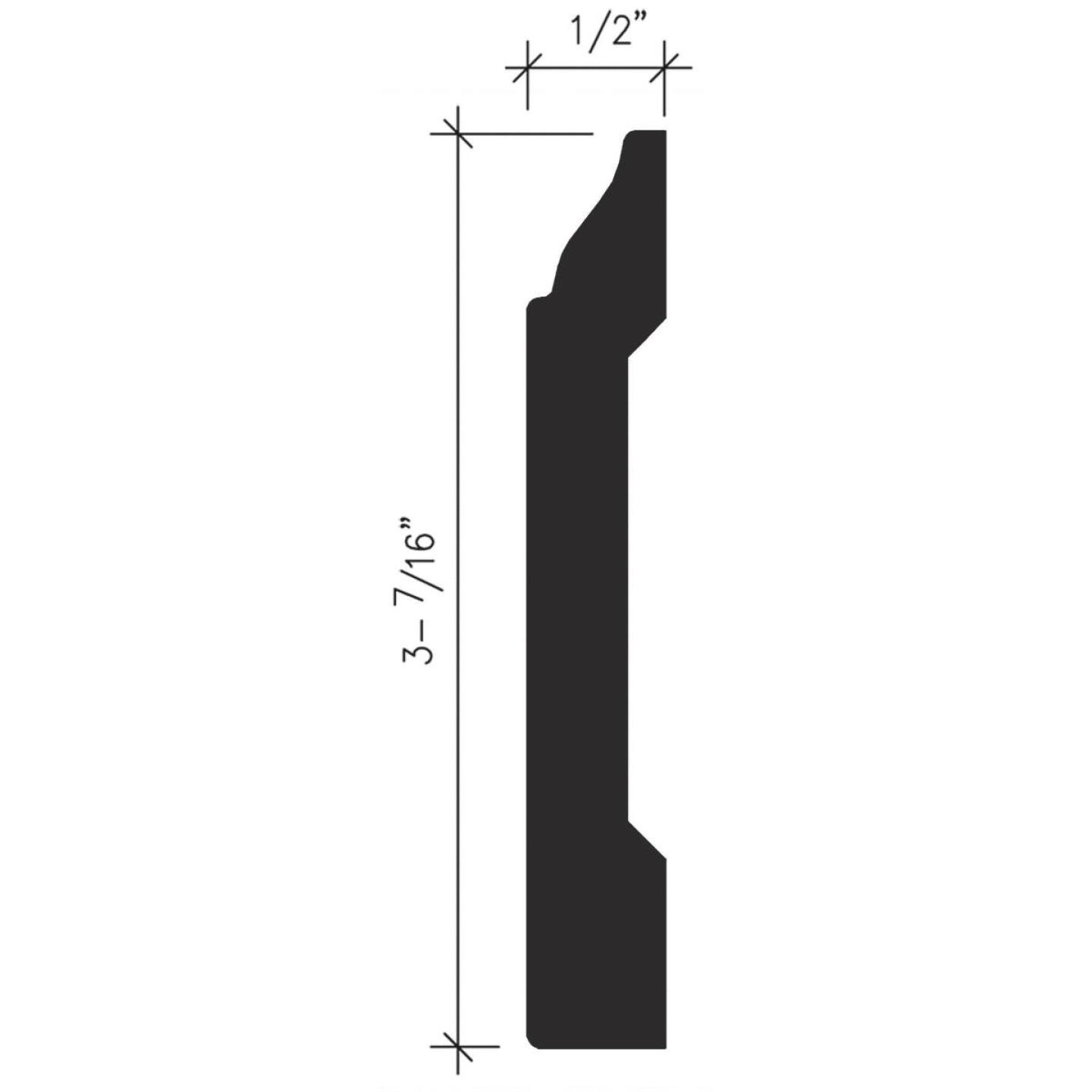 Inteplast Building Products 1/2 In. W. x 3-7/16 In. H. x 8 Ft. L. Majestic Oak Polystyrene Colonial Base Molding Image 4