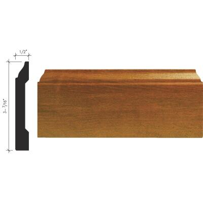 Inteplast Building Products 1/2 In. W. x 3-7/16 In. H. x 8 Ft. L. Independence Cherry Polystyrene Colonial Base Molding