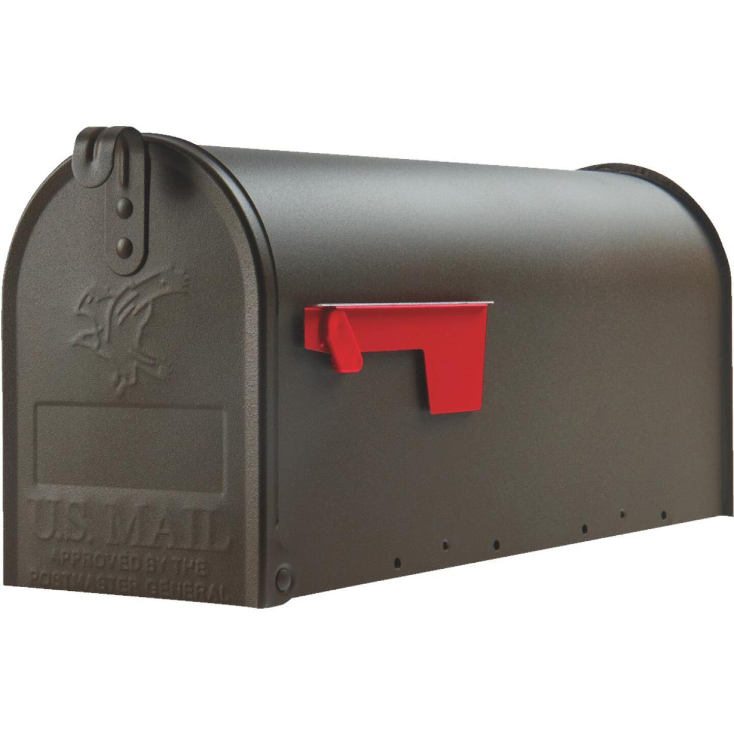 Gibraltar Elite T1 Bronze Steel Rural Post Mount Mailbox Image 2