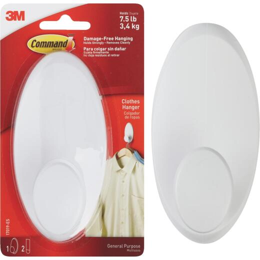 3M Command White Adhesive Hanger Wardrobe Hook