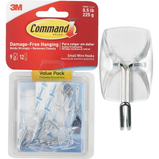 Command Clear Wire Adhesive Hook (9 Pack)