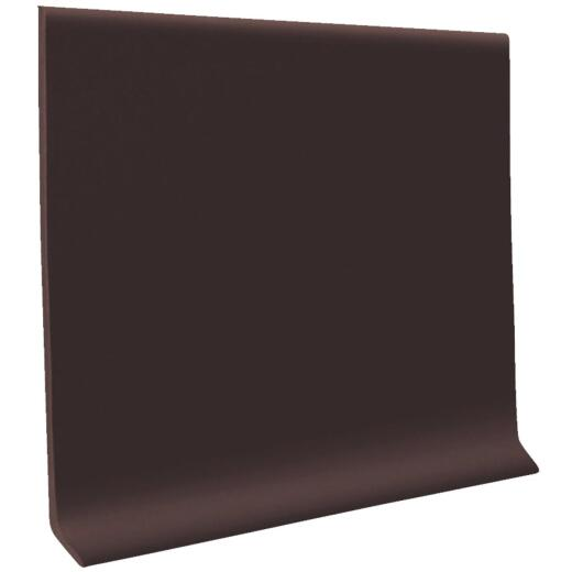 Roppe 4 In. x 20 Ft. Roll Brown Vinyl Self-Stick Wall Cove Base