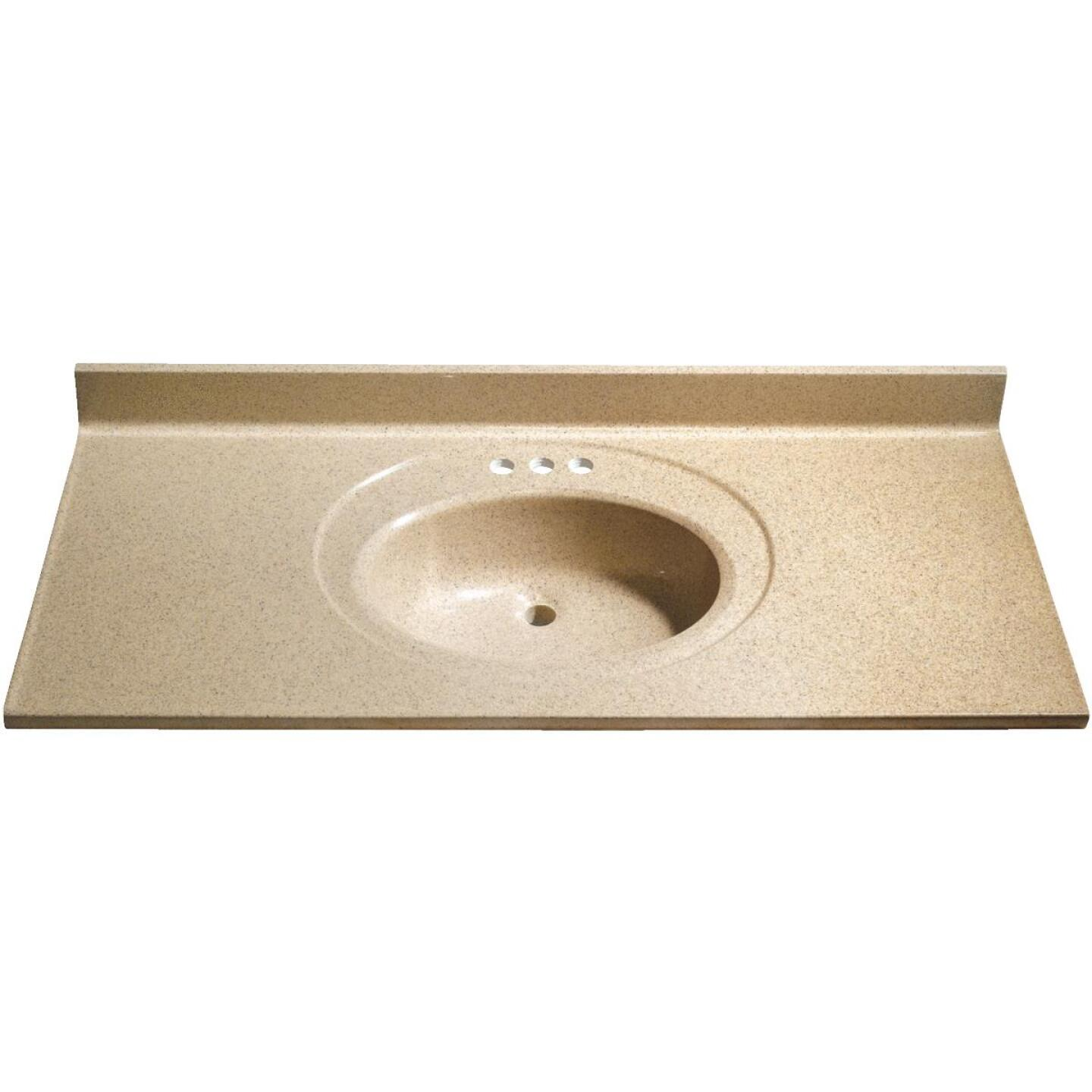 Bertch 49 In. W x 22 In. D Sand Faux Granite Vanity Top with Oval Bowl Image 1