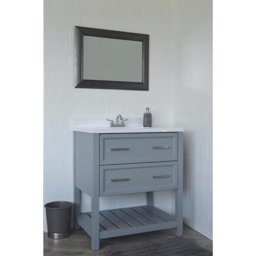 Modular Sorrento Gray 31 In. W x 31 In. H x 22 In. D Vanity with Cultured Marble Top
