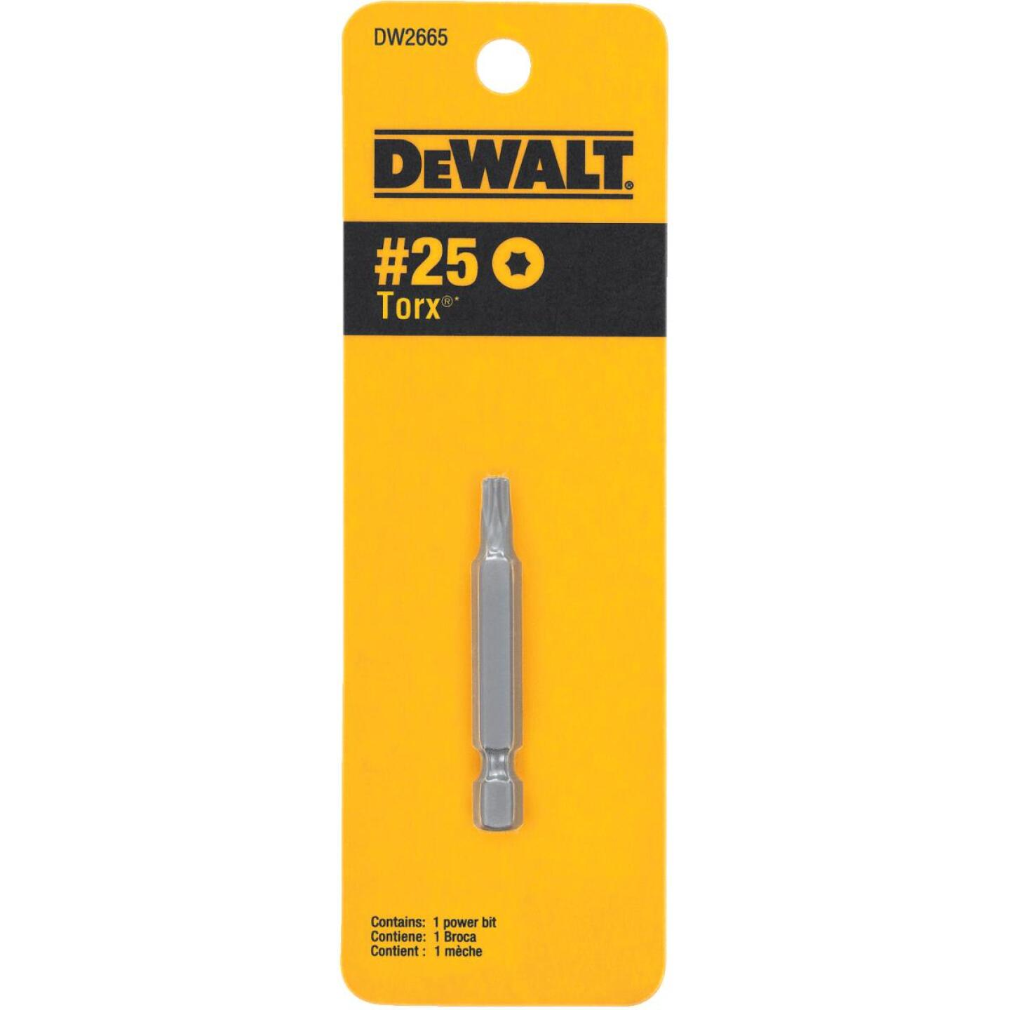 DeWalt T25 TORX 2 In. 1/4 In. Power Screwdriver Bit Image 1