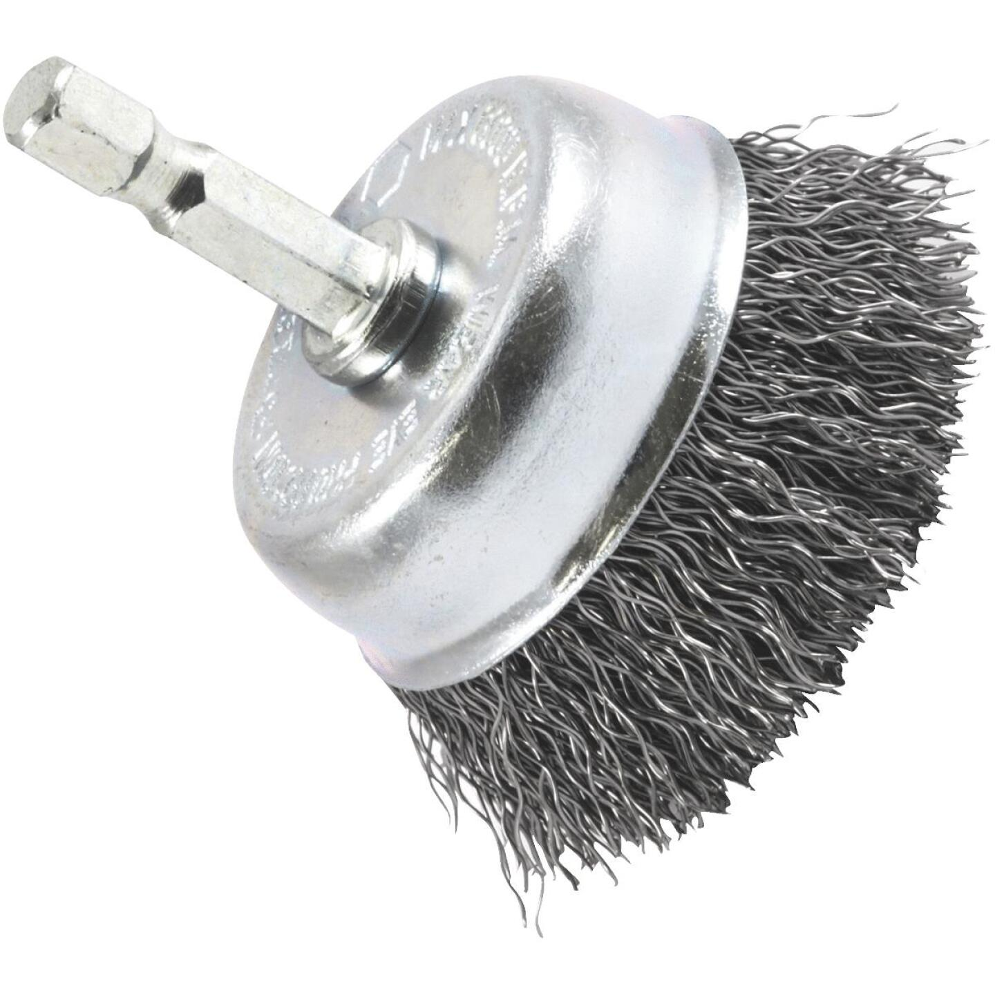 Forney 2 In. 1/4 In. Hex Coarse Drill-Mounted Wire Brush Image 1
