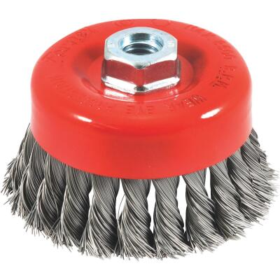Forney 4 In. Knotted .020 In. Angle Grinder Wire Brush