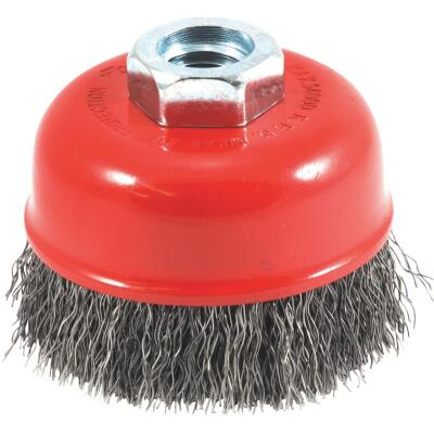 Forney 2-3/4 In. Crimped .014 In. Angle Grinder Wire Brush