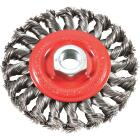 Forney 4 In. Twisted/Knotted 0.012 In. Angle Grinder Wire Wheel Image 1