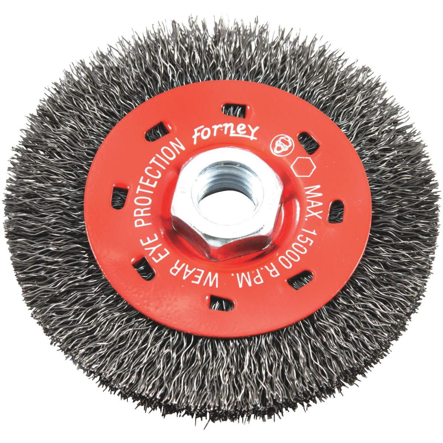 Forney 4 In. Crimped 0.012 In. Angle Grinder Wire Wheel Image 1