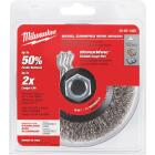 Milwaukee 4 In. Crimped .012 In./.014 In. Angle Grinder Wire Wheel Image 2