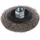 Milwaukee 4 In. Crimped .012 In./.014 In. Angle Grinder Wire Wheel Image 1