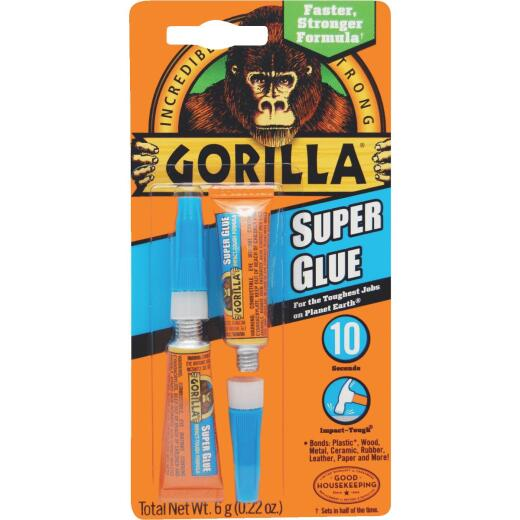Gorilla 0.11 Oz. Liquid Super Glue (2-Pack)