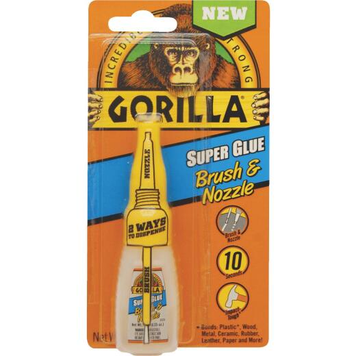 Gorilla 0.42 Oz. Liquid Bottle Brush & Nozzle Super Glue