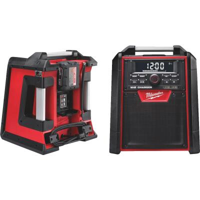 Milwaukee M18 18-Volt Lithium-Ion Bluetooth Cordless Jobsite Radio and Battery Charger (Bare Tool)
