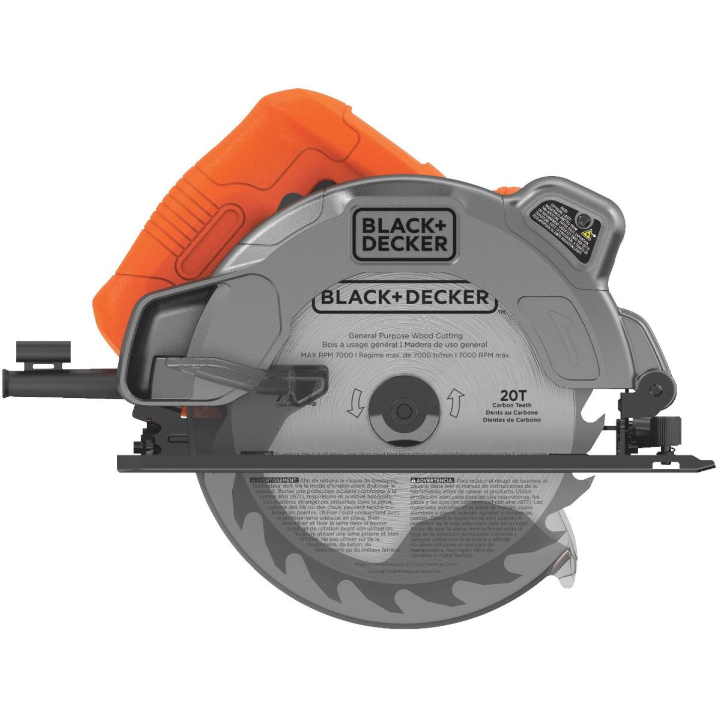 Black & Decker 7-1/4 In. 13-Amp Circular Saw with Laser Image 3