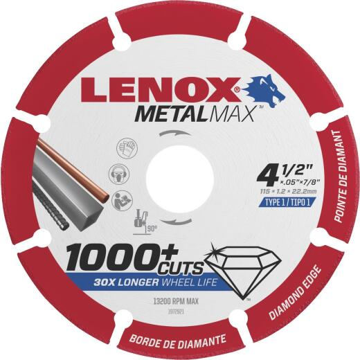 Lenox MetalMax 4-1/2 In. Segmented Rim Dry Cut Diamond Blade