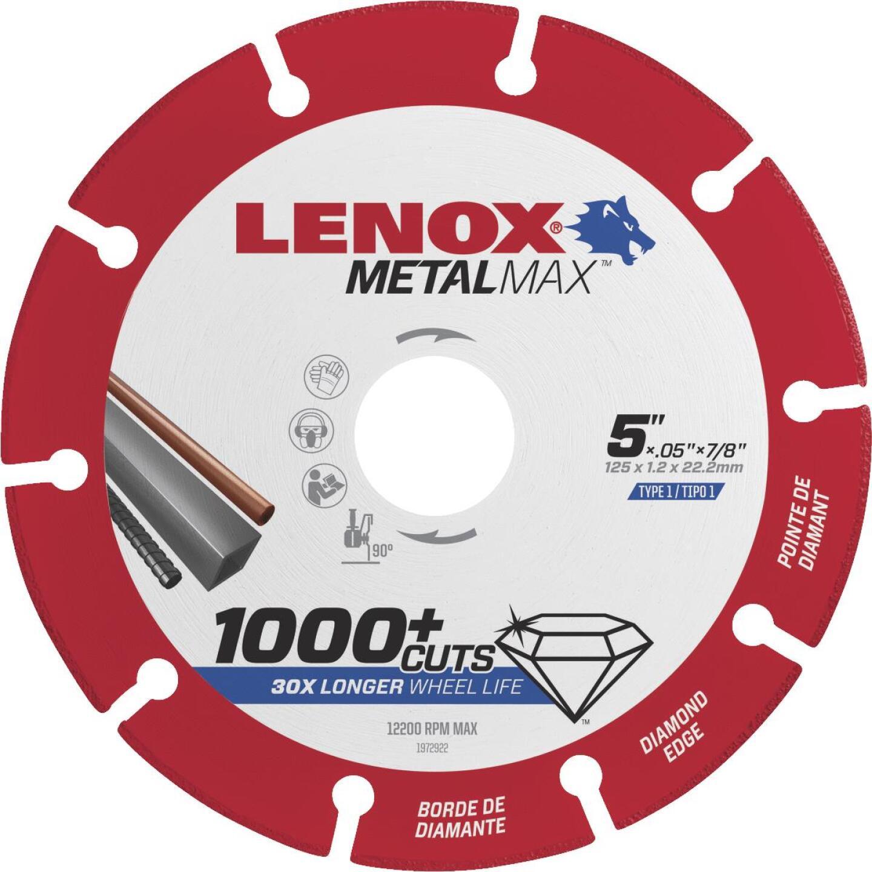 Lenox MetalMax 5 In. Segmented Rim Dry Cut Diamond Blade Image 1