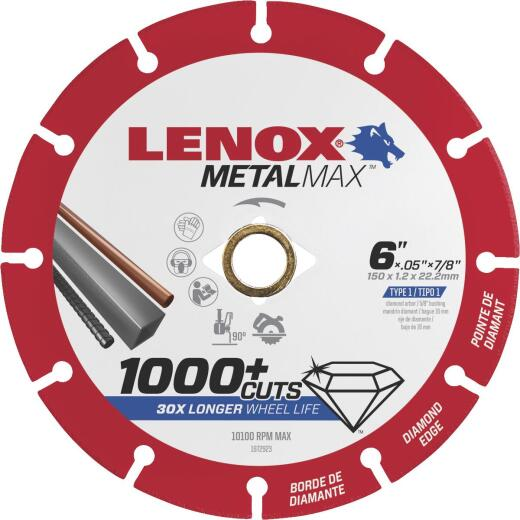 Lenox MetalMax 6 In. Segmented Rim Dry Cut Diamond Blade