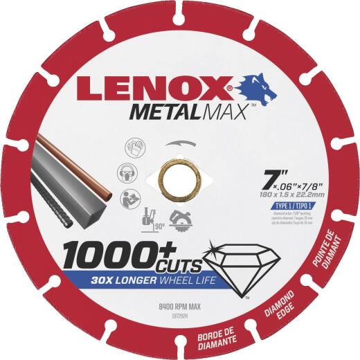 Lenox MetalMax 7 In. Segmented Rim Dry Cut Diamond Blade