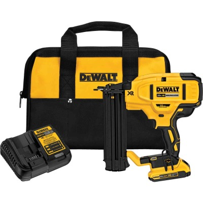DeWalt 20 Volt MAX XR Lithium-Ion Brushless 18-Gauge 2-1/8 In. Cordless Brad Nailer Kit