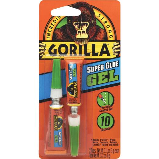 Gorilla 0.11 Oz. Super Glue Gel (2-Pack)