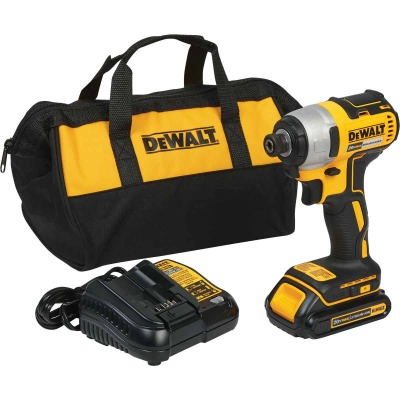 DeWalt 20 Volt MAX Lithium-Ion Brushless 1/4 In. Hex Cordless Impact Driver Kit