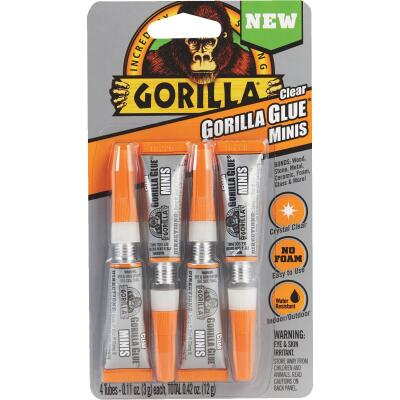 Gorilla 0.42 Oz. Clear Mini All-Purpose Glue (4-Pack)