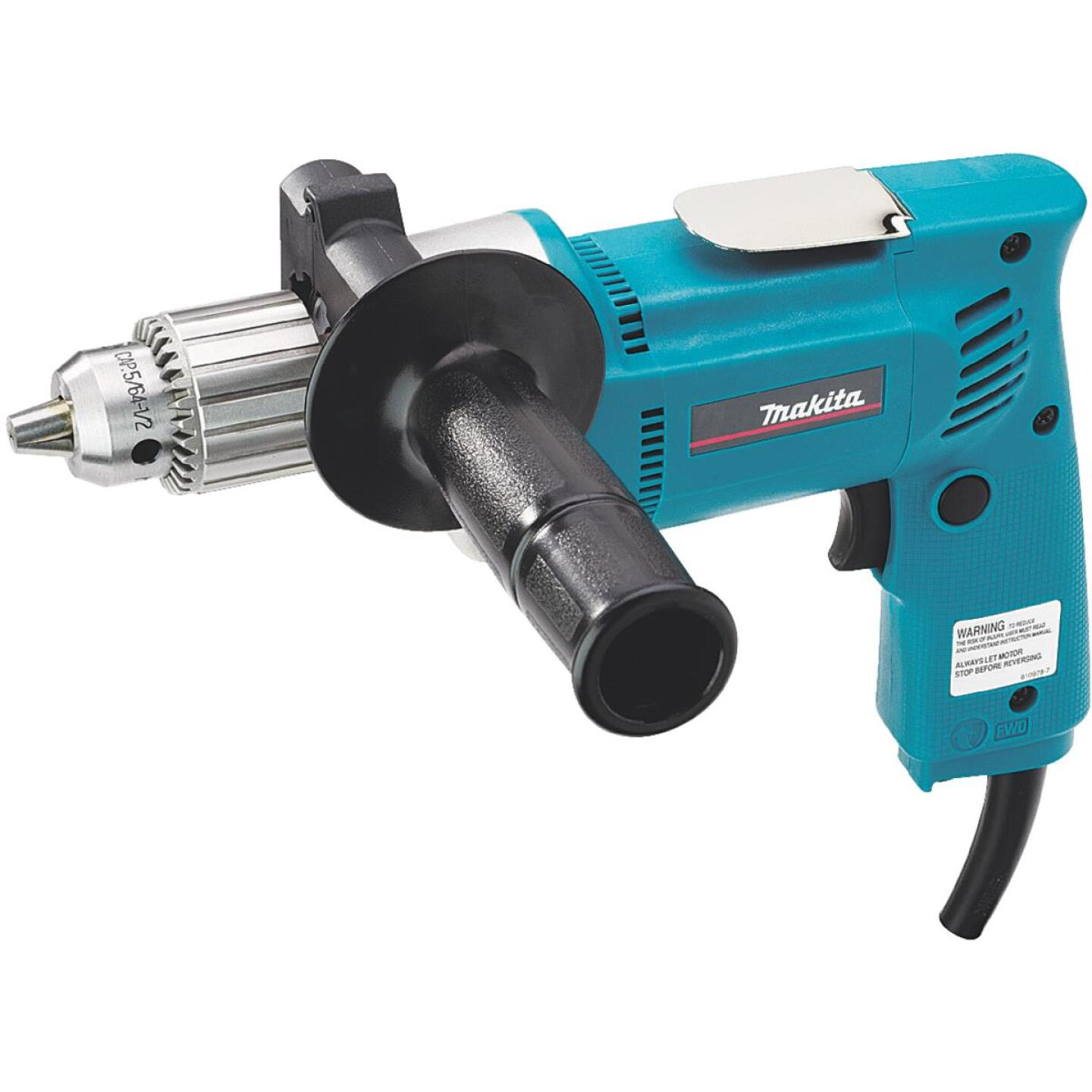 Makita 1/2 In. 6.5-Amp Keyed Electric Drill with Pistol Grip Image 1
