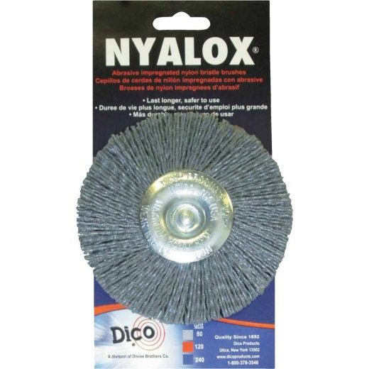 Dico Nyalox 4 In. Extra Coarse Drill-Mounted Wire Brush