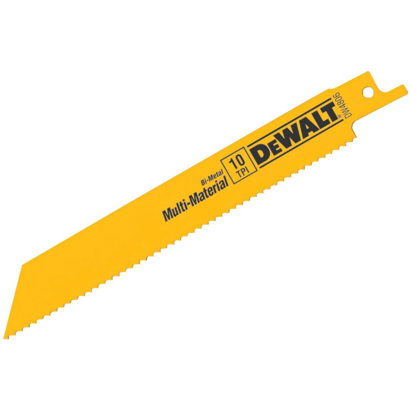 DeWalt 6 In. 10 TPI Multi-Material Reciprocating Saw Blade (5-Pack) Image 1