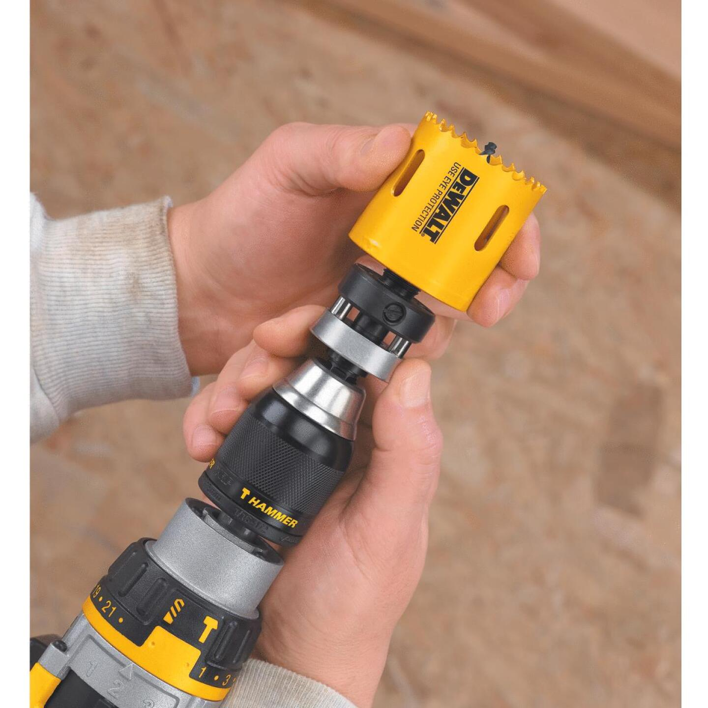 DeWalt 7/16 In. Hex Shank Hole Saw Mandrel Fits Hole Saws Fits Hole Saws 1-1/4 In. to 6 In. Image 2