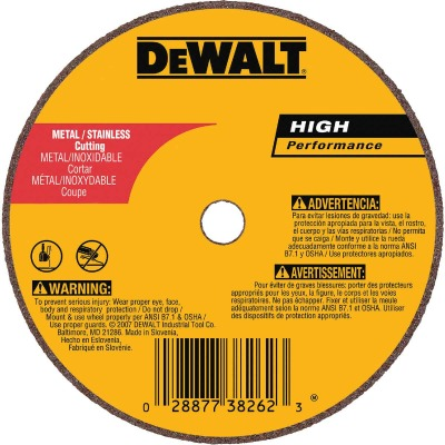 DeWalt HP Type 1 4 In. x 1/16 In. x 5/8 In. Metal/Stainless Cut-Off Wheel