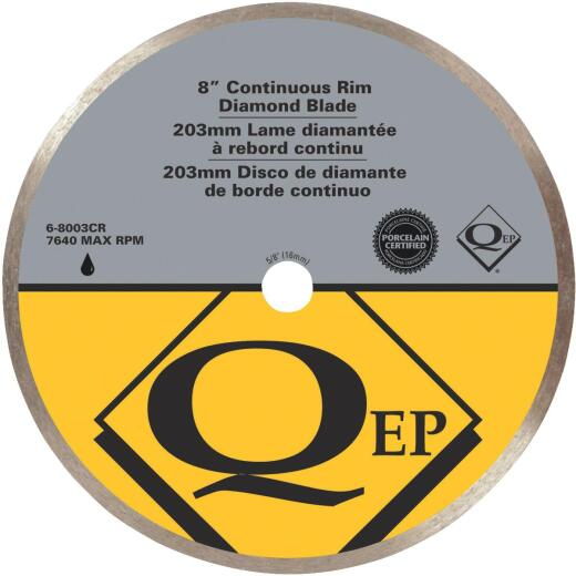 QEP 8 In. Continuous Rim Wet Cut Diamond Blade