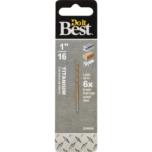 Do it Best 1/16 In. Titanium Drill Bit