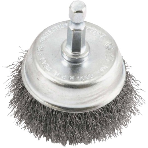Forney 2 In. 1/4 In. Hex Fine Drill-Mounted Wire Brush