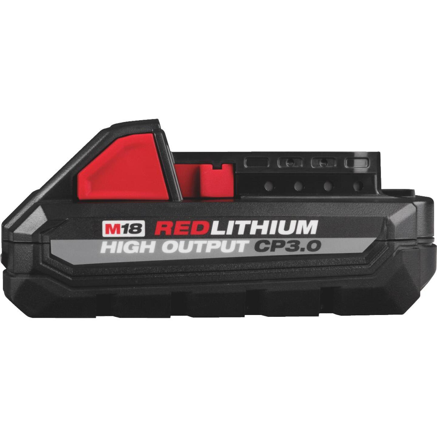 Milwaukee M18 REDLITHUM 18 Volt Lithium-Ion 3.0 Ah High Output CP3.0 Tool Battery Image 1
