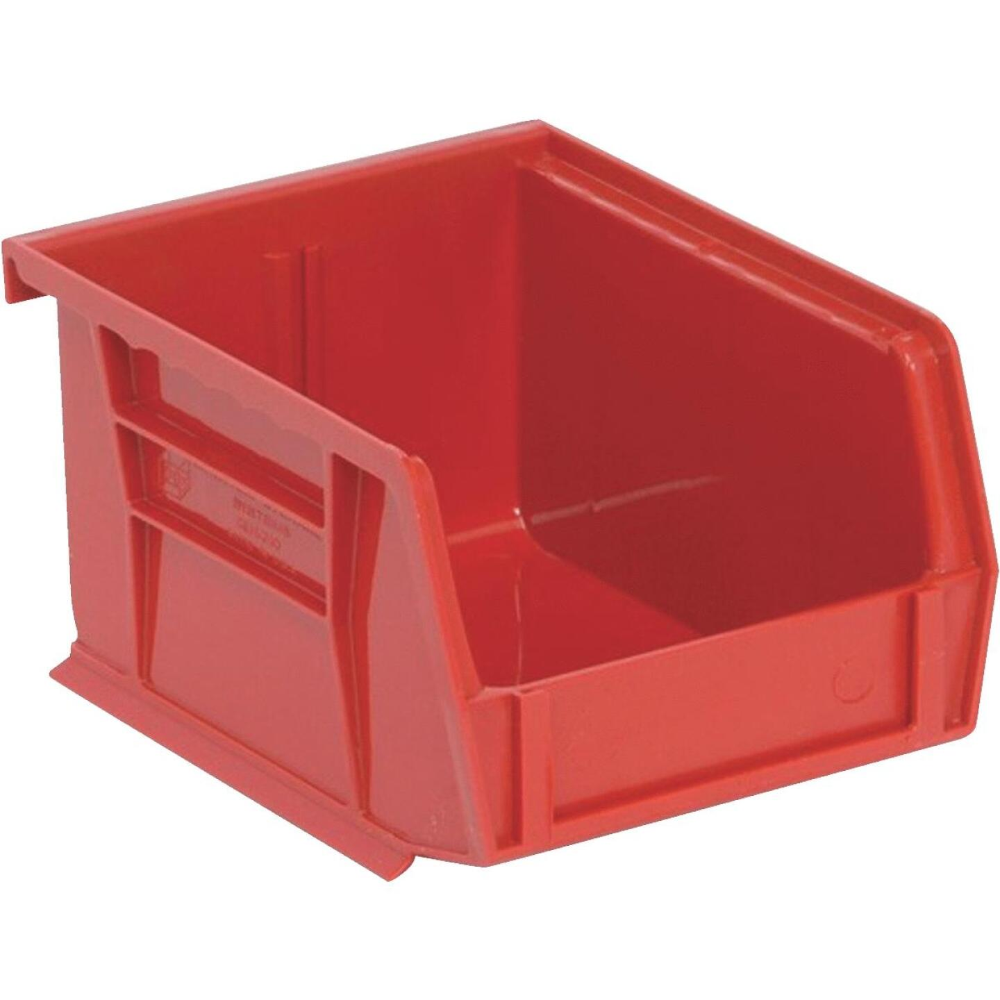Quantum Storage Small Red Stackable Parts Bin (6-Pack) Image 1