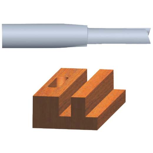 Vermont American Carbide Tip 1/2 In. Straight Bit