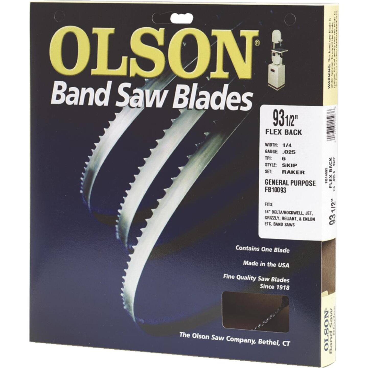 Olson 93-1/2 In. x 1/2 In. 3 TPI Hook Flex Back Band Saw Blade Image 1