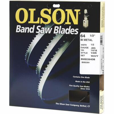 Olson 64-1/2 In. x 1/2 In. 14/18 TPI Vari Metal Cutting Band Saw Blade